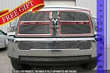 GTG 2013 - 2016 Dodge Ram 2500 3500 4PC Polished Overlay Billet Grille Grill Kit