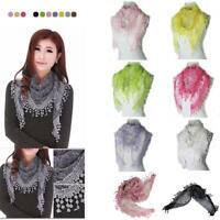 """femmes broderies rose lace triangle """" foulard châles du printemps à l'automne"""