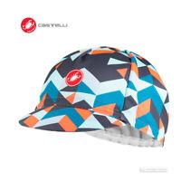 NEW 2020 Castelli PRISMA 2 Cycling Cap : DARK STEEL BLUE/PINK - One Size