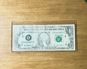 2013 $1 FRN BILL - INSUFFICIENT INKING LOW INK PRINT ERROR NICE CIRCULATED NOTE