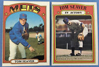 1972 Topps #445 TOM SEAVER and #446 TOM SEAVER IA (In Action) (Mets)