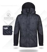Southplay Mens Militarylook Waterproof Ski-Snowboard Outwear Hood North Jacket