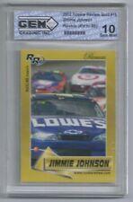 NASCAR LOWE'S JIMMIE JOHNSON 2002 ROOKIE REVIEW GOLD #15 GEM MINT 10