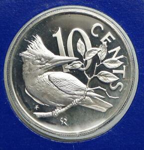 1977 British Virgin Islands UK Queen Elizabeth II BIRD Proof Silver Coin i92350