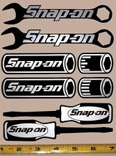 Snap On Sticker Decal Set1! Wrenches,Sockets,Screw Drivers! HQ Silver/Black! em