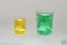 Beaker Set 250 100 Ml Griffin Graduated Borosilicate Glass Beakers Measuring New