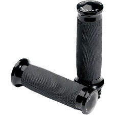 Performance Machine Black Contour Renthal Wrapped Grips 0063-2020-B For Harley