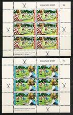 New Zealand SC # B82a-B83a Miniature Sheet Of 6 . MNH