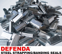 1000 x 12mm x 25mm Steel Metal Hand Pallet Strapping Banding Seal Clips SO34