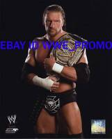 WWF WWE PHOTO FILE GLOSSY HHH PROMO 8x10 Triple H BELT