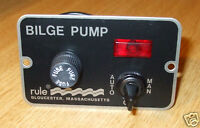 Marine bilge pump switch RULE 3 way 12v illuminated deluxe   MODEL 41