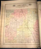 ARCADIA TOWNSHIP, LAPEER COUNTY MICHIGAN PLAT MAP 1893