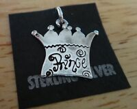 Sterling Silver 17X18mm says Prince on a Crown Charm