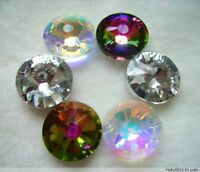 60Pcs 18mm Top quality Circular crystal glass beads for jewelry making DIY