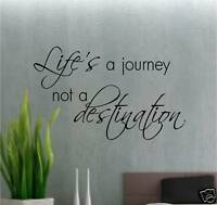LIFE IS A JOURNEY.......  WALL ART VINYL LOUNGE