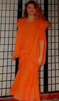 Unikat Abendkleid Ballkleid 36 38 40 Party Disco Kleid orange Einzelanfertigung