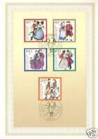 BRD 1994:Trachten II! Ersttagsblatt der Wohlfahrtmarken Nr. 1757 - 1761! 158