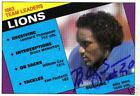 Billy Sims Signed 1984 Topps Detroit Lions Card - COA - Oklahoma Sooners - NFL