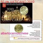 coin card 50 cent EURO 2010 VATICAN Vaticano Vatikan Ватикан