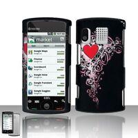Heart Hard Case Snap on Phone Cover Kyocera Zio M6000