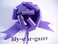 10 Purple 50mm Instant Pull Bow Ribbons - Gift Wedding