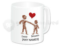 Personalised Family Mug: Mummy, Daddy & Me- Design  #3