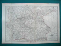 GERMANY DEUTSCHLAND S.WEST ANTIQUE MAP BY JOHNSTON 1873