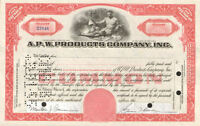 A P W PRODUCTS > Allied paper red stock certificate share