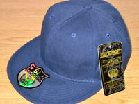 PLAIN FITTED CAP HATS, FLAT PEAK NAVY HIP HOP CAPS BNWT BASEBALL MENS AND LADIES