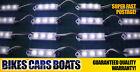 2 X 12V 4M BOAT FISHING LED LIGHT WHITE WPROOF CAMPING 4 metres