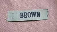 "BLACK & KHAKI MILITARY NAME TAG  "" BROWN """