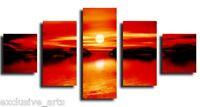ea CANVAS ART-RED/BLACK CASCADING 5 SET PRINT/NR-RUBY2