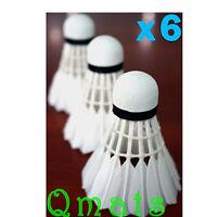 x6 Shuttlecock White Goose Feather Badminton Ball