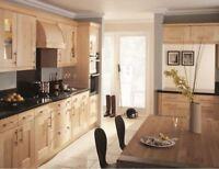 Lansdowne Solid Maple Kitchen Doors & Rigid Units, timber shaker style kitchen