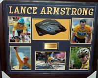 Lance Armstrong Hand Signed & Framed Tour De France Bike Helmet - Certificate
