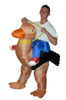 NEW ADULT FANCY DRESS INFLATABLE OSTRICH SUIT PARTY COSTUME HALLOWEEN OUTFIT