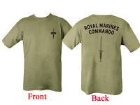 New Small ROYAL MARINE COMMANDO T SHIRT 100% COTTON