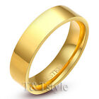 T&T 14K Gold GP 6mm Stainless Steel Wedding Band Ring Size 12 R132