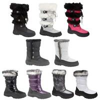 LADIES WINTER BOOTS WOMENS SNOW BOOTS SKI APRES FUR MOON THERMAL BOOTS  SIZE 3-9