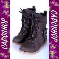 Chaussures bottes bebe fille garcon enfant unisexe simili cuir 20 B906 MARRON