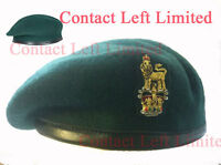 Commando Green Beret 54cm + Staff Officers Cap Badge