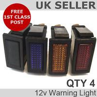 *QTY 4* 12v Rectangular Indicator/Warning Light