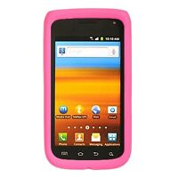 Hot Pink Rubber SILICONE Skin Soft Gel Case Phone Cover Samsung Exhibit 2 II 4G