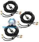PKG 3pc) MONSTER CABLE 2 CH 16 FOOT FEET IMXLN RCA JACK WIRE CORD 15 17  = 6 CH