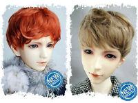 "2-wig set 6-7"" Brown&Carrot Synthetic Mohair Yo-SD 1/6 BJD Doll SD Short Wig"