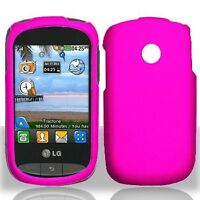 For TracFone Net10 LG 800g HARD Protector Case Phone Cover Glossy Hot Pink