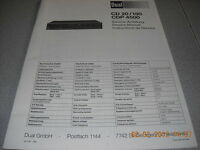 Dual CD20/150 CDP4500 Service Manual