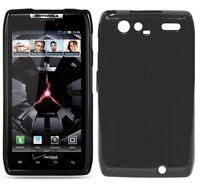 For Motorola DROID RAZR MAXX TPU CANDY Flexi Gel Skin Case Cover Glossy Black