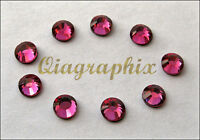 1440 Pcs DMC Iron On Hotfix Crystal Rhinestones Rose Pink SS10, 2.7~2.9mm SS10P