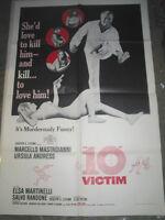 THE 10TH VICTIM / ORIGINAL U.S. ONE-SHEET MOVIE POSTER ( URSULA ANDRESS )